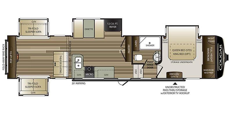 2020 Keystone Cougar Fifth Wheel Floorplans Genuine Rv