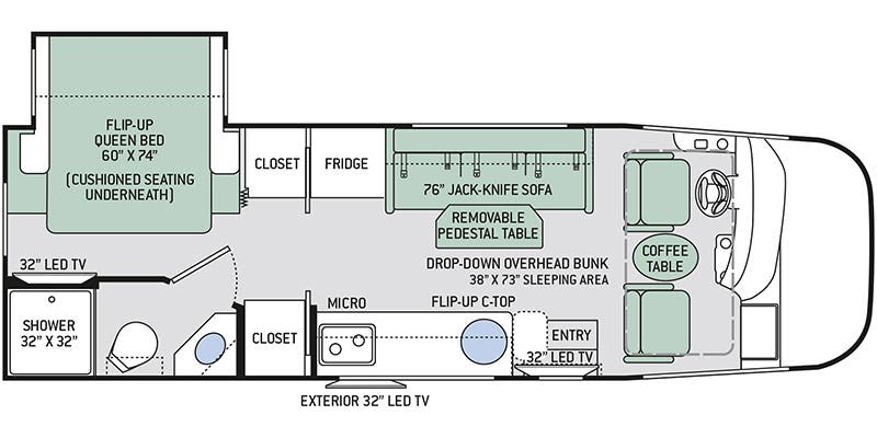 Find Specs For 2018 Thor Motor Coach Axis <br>floorplan 253: Redwood Wiring Schematic For Rv At Outingpk.com