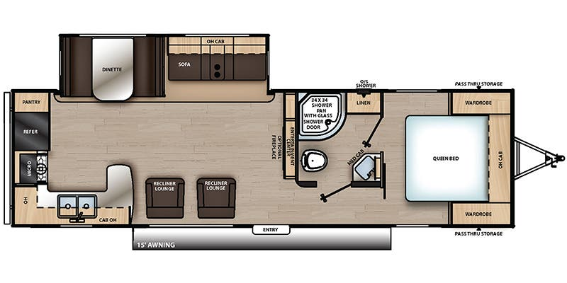 Find Specs for 2019 Coachmen - Catalina Legacy Edition <br>Floorplan: 283RKS (Travel Trailer)