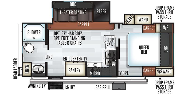 2019 Forest River Flagstaff Micro Lite (Travel Trailer)