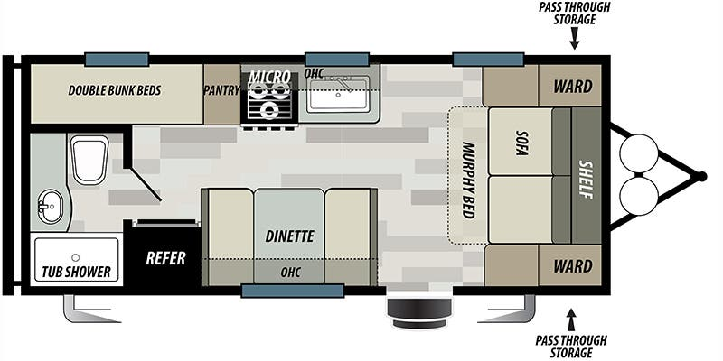 2019 Forest River Wildwood X-Lite (Travel Trailer)