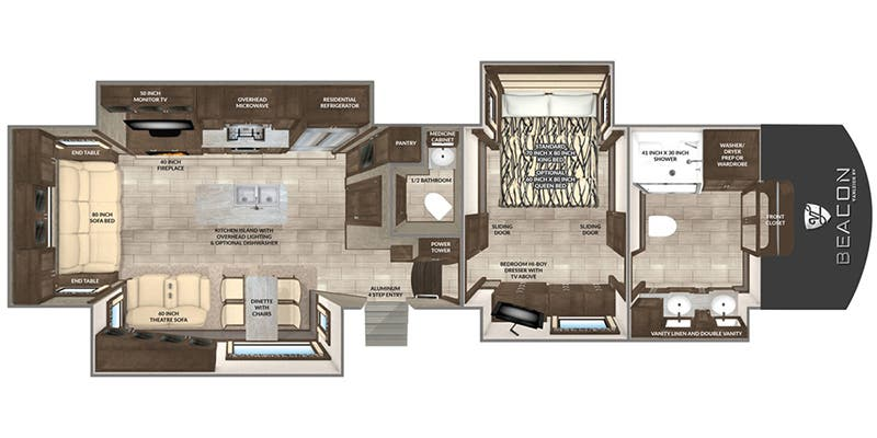 Find Specs for 2019 Vanleigh - Beacon <br>Floorplan: 39 FBB (Fifth Wheel)