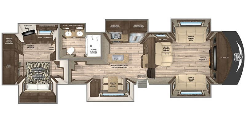 Find Specs for 2019 Vanleigh - Vilano <br>Floorplan: 375 FL (Fifth Wheel)