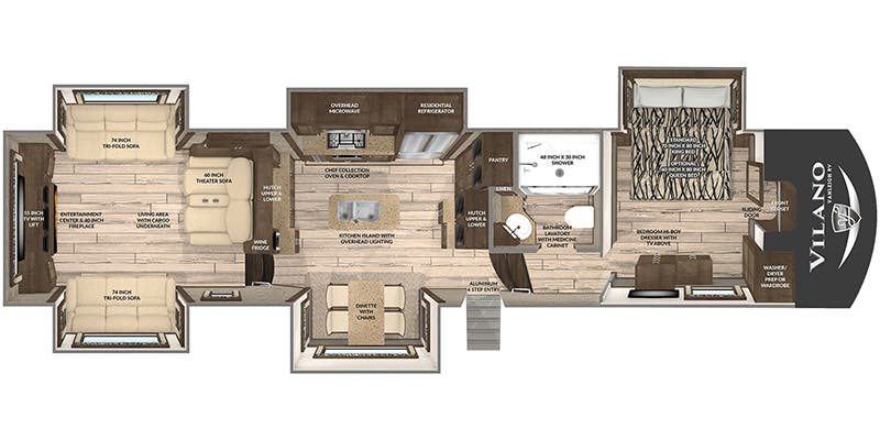 Find Specs for 2020 Vanleigh - Vilano <br>Floorplan: 385 RD (Fifth Wheel)