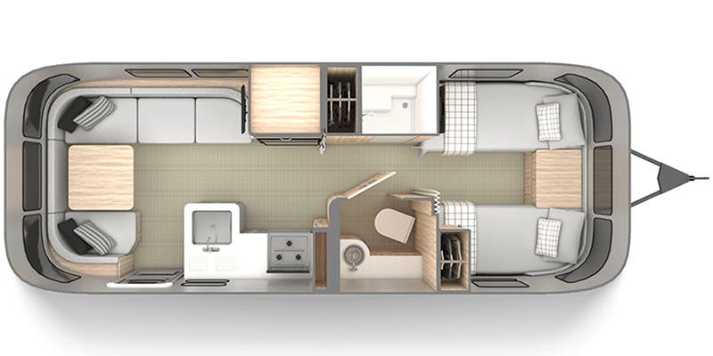Find Specs for 2020 Airstream - Globetrotter <br>Floorplan: 25FB Twin (Travel Trailer)