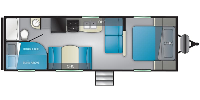 Find Specs for 2020 Heartland - Prowler <br>Floorplan: 250BH (Travel Trailer)
