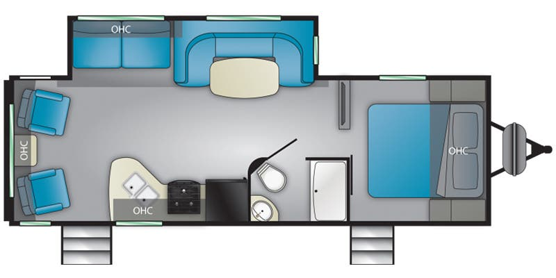 Find Specs for 2020 Heartland - Prowler <br>Floorplan: 256RL (Travel Trailer)