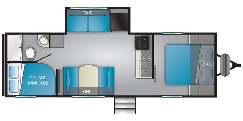 Find Specs for 2020 Heartland - Prowler <br>Floorplan: 262BH (Travel Trailer)