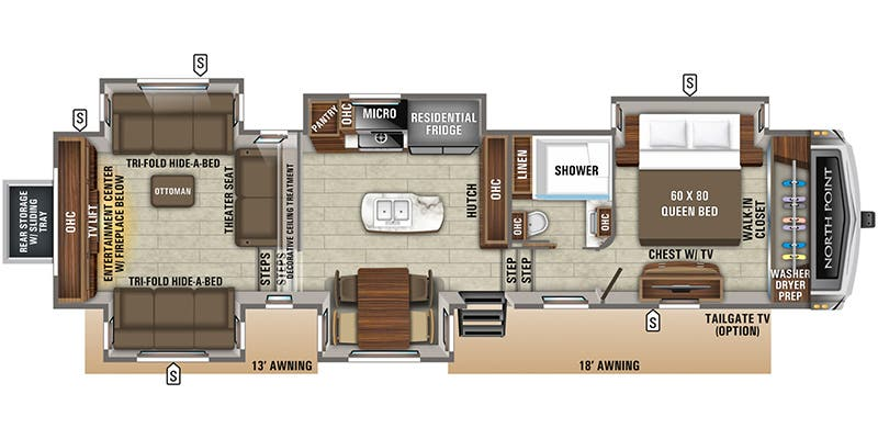 2020 Jayco North Point (Fifth Wheel)