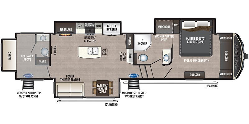 2021 Keystone Montana High Country Fifth Wheel Floorplans Town And Country Rv