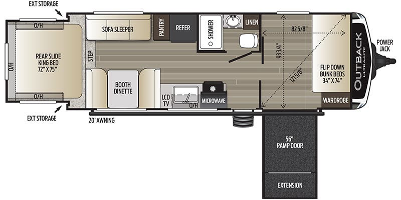 2020 Keystone Outback Toy Hauler Floorplans Genuine Rv Store