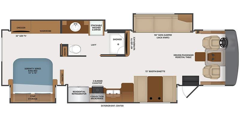 2021 Fleetwood Bounder Class A Floorplans Ancria Rv