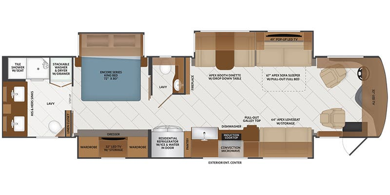 2021 Fleetwood Discovery Lxe Class A Floorplans Ancria Rv
