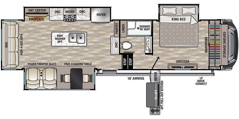 2021 Forest River Cedar Creek Fifth Wheel Floorplans Ancria Rv
