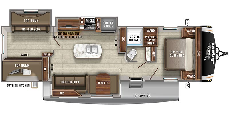 2021 Jayco Eagle Ht Travel Trailer Floorplans Town And Country Rv