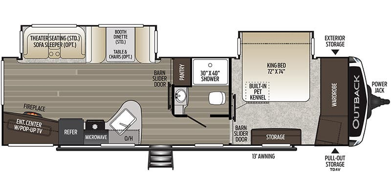 2021 Keystone Outback Travel Trailer Floorplans Genuine Rv Store