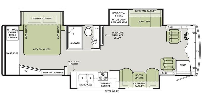 2021 Tiffin Allegro Breeze Class A Floorplans Ancria Rv